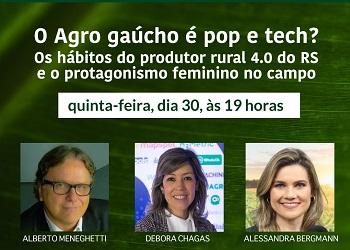 Corecon-RS realiza live sobre hábitos do produtor rural 4.0 e o protagonismo feminino no campo