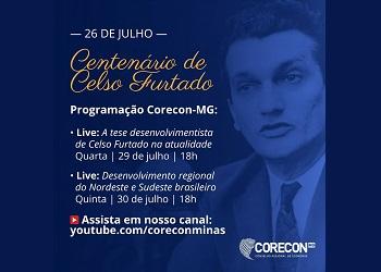 Corecon-MG promove lives em comemoração ao centenário de Celso Furtado