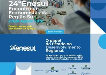 Inscrições abertas para o 24º ENESUL – Encontro de Economistas da Região Sul