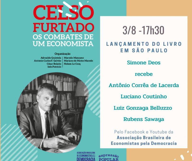 """Presidente do Cofecon participará de lançamento do livro """"Celso Furtado: os combates de um economista"""""""