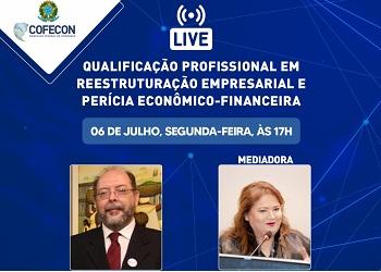 Cofecon realizará live nesta segunda-feira sobre qualificação profissional para economistas