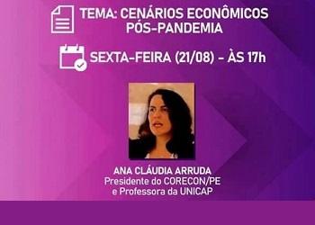 Presidente do Corecon-PE discutirá cenários econômicos com advogadas da OAB-PE