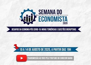 Corecon-BA promove série de debates online na Semana do Economista