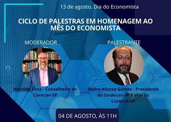 Corecon-SP realiza palestra nesta terça-feira sobre a profissão de economista