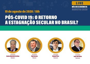 Corecon-DF discute o cenário pós-Covid-19 no Brasil