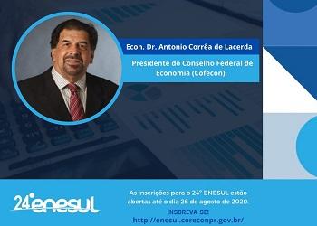 Presidente do Cofecon apresentará a palestra magna do 24º Enesul
