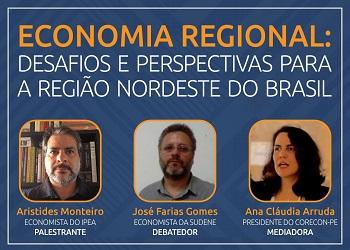 Corecon-PE promove palestra virtual sobre desafios e perspectivas para a região Nordeste