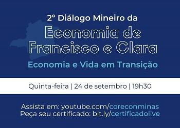 Corecon-MG transmite live sobre Economia de Francisco e Clara – Economia e Vida em Transição