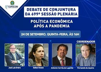 Esther Dweck e José Luis Oreiro participam de debate sobre Política Econômica após a pandemia