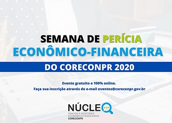 Corecon-PR realiza Semana de Perícia Econômico-Financeira, com participação gratuita