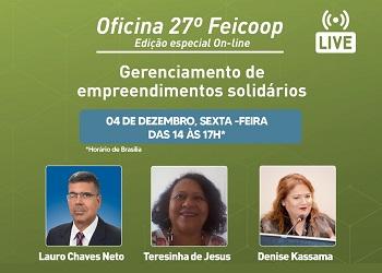 Conselheiros federais ministram oficina gratuita em feira internacional de cooperativismo