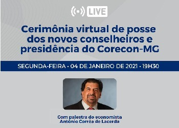 Em posse do Corecon-MG, presidente do Cofecon realizará palestra