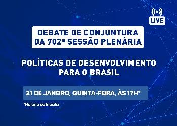 Elias Jabbour e Paulo Gala participam de debate sobre políticas de desenvolvimento para o Brasil