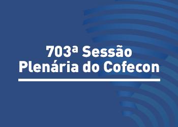 Cofecon realizou 703ª Sessão Plenária