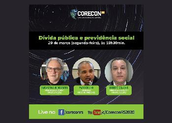 Corecon-RS promove live sobre dívida pública e previdência social