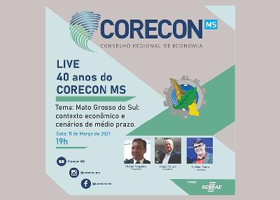 Corecon-MS completa 40 anos