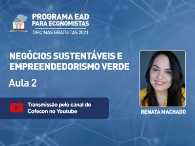 Renata Machado discutirá consumo consciente e educação ambiental em oficina gratuita