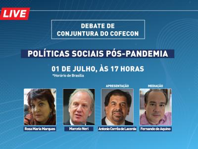 Cofecon realiza debate sobre políticas sociais pós-pandemia