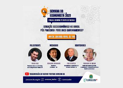 Corecon-BA promove a Semana do Economista 2021