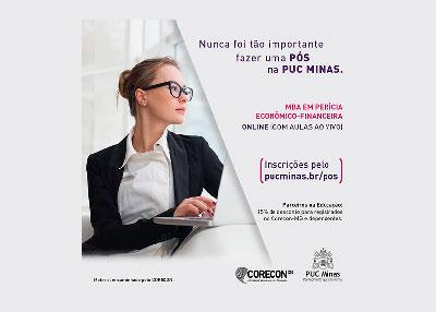 PUC-MG oferece 15% de desconto no MBA em Perícia Econômico-Financeira para registrados no Corecon-MG
