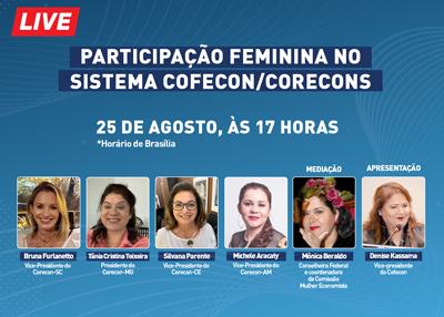 Live: Participação feminina no Sistema Cofecon/Corecons